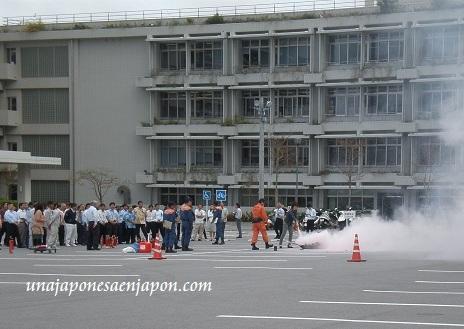 entrenamiento prevencion desastres okinawa japon bousai kunren unajaponesaenjapon.com