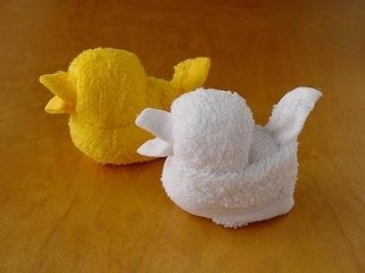 Patitos de toalla - Imagui