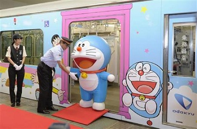 Tren otaku de Doraemon en Japon