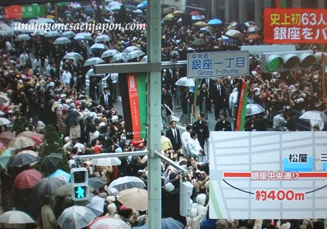 desfile actores kabuki ginza tokyo