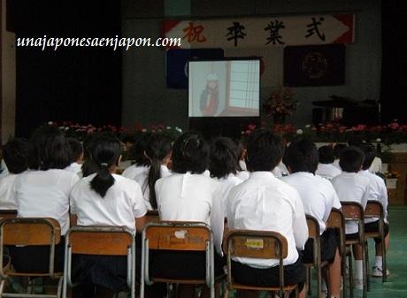 escuela japonesa ceremonia graduacion japon