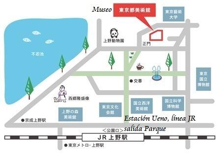 ueno-tokyo-mapa-museo-exposicion-el greco