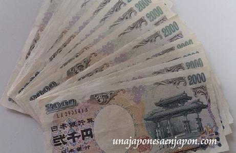 billetes dos mil yenes okinawa japon 2