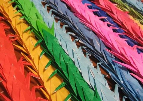 mil grullas origami japon