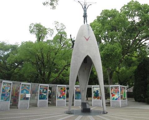 parque de la paz hiroshima japon mil grullas origami 1