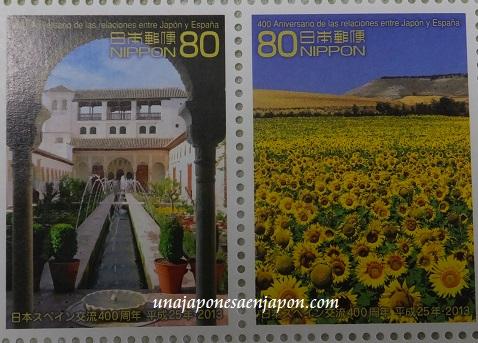 año dual españa japon 2013 sellos japon 5
