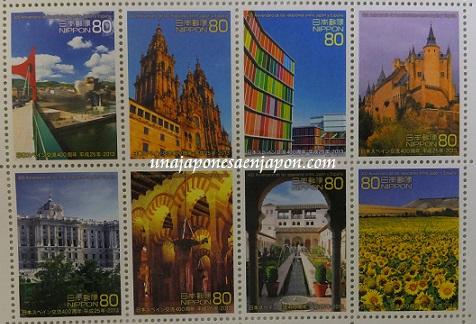 año dual españa japon 2013 sellos japon 6