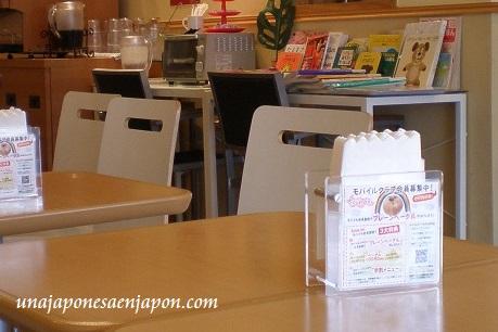 servilletas de papel cafeteria restaurante japon