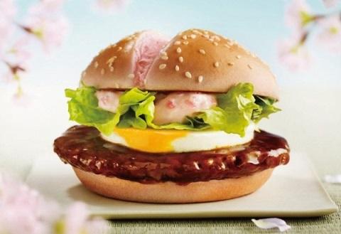 hamburguesa mcdonalds sakura teritama primavera rosa japon