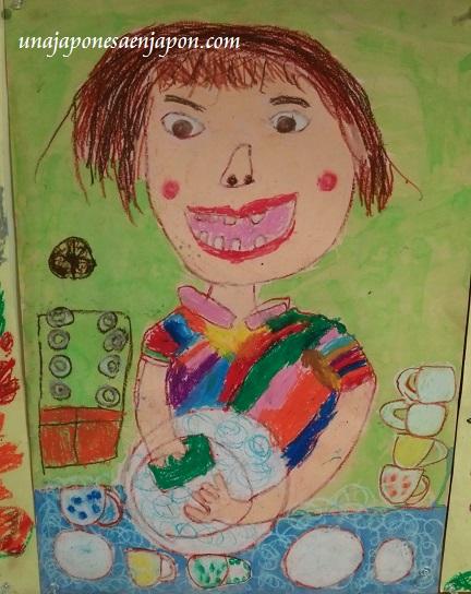 dibujos del día de la madre 母の日図画展 en una japonesa en japón