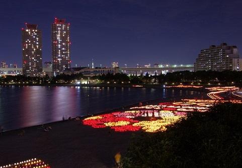 festival de la luz del mar odaiba japon 2