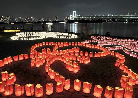 festival de la luz del mar odaiba japon 3