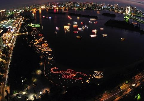 festival de la luz del mar odaiba japon 4