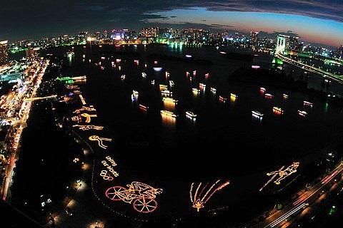 festival de la luz del mar odaiba japon