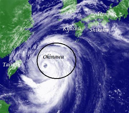 tifon numero 8 neoguri 2014 okinawa japon