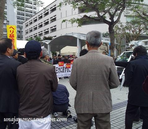 protesta nueva base estadounidense henoko okinawa japon 11