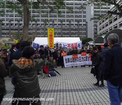 protesta nueva base estadounidense henoko okinawa japon 13