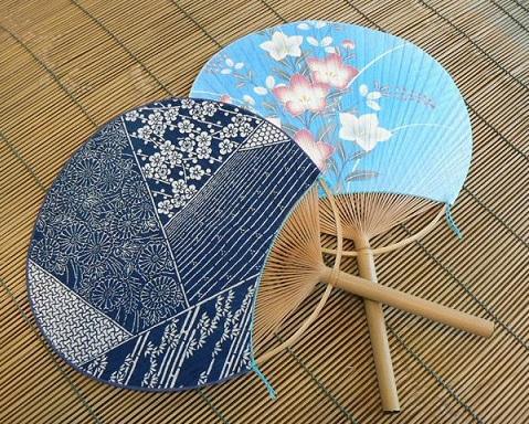 verano japones uchiwa pantalla japon