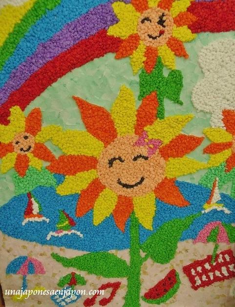 arte con bolitas de papel dia del respeto a los mayores japon