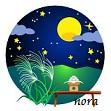 nora septiembre mirar la luna tsukimi