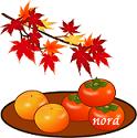 nora octubre kaki cambio de hojas japon