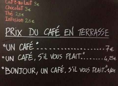 letrero original francia cafe
