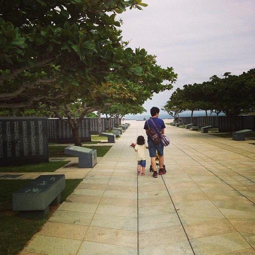 parque de la paz itoman okinawa nuria y familia