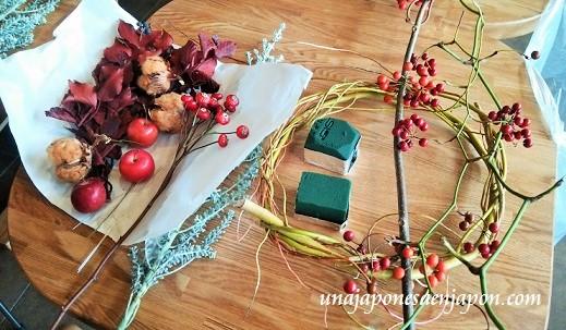 taller-manualidades-corona-navidad-okinawa-japon