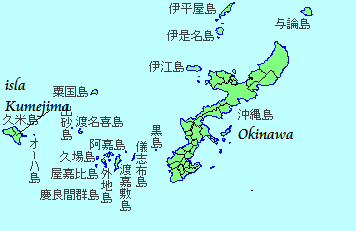 mapa okinawa japon 1