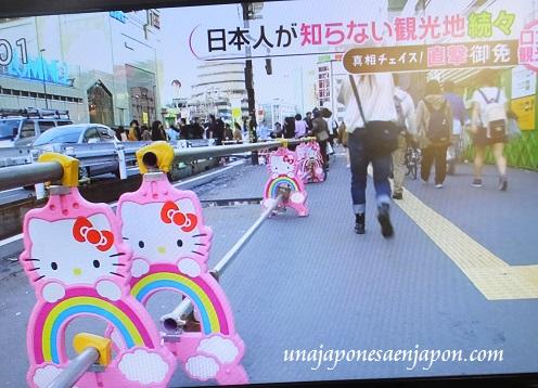 barreras de proteccion obras kitty chan shinjuku tokyo japon 1