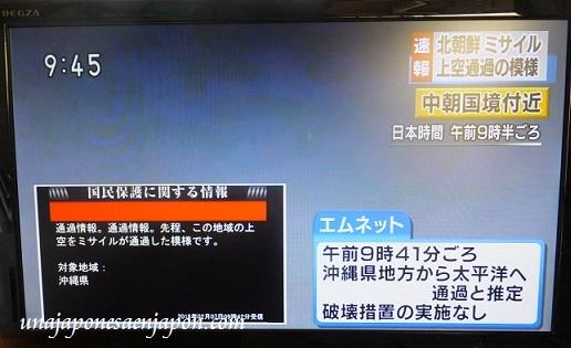 misil corea del norte okinawa japon 1