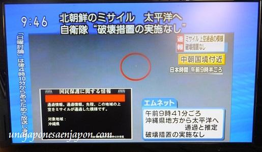 misil corea del norte okinawa japon 2