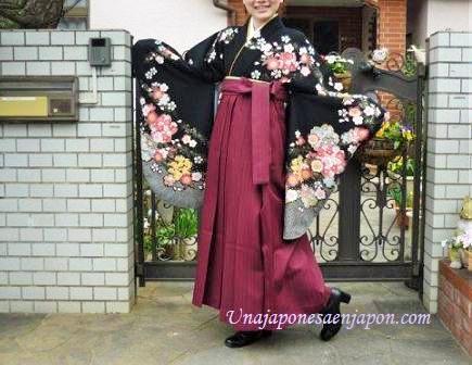 pantalon falda vestimenta graduacion universidad japon 2